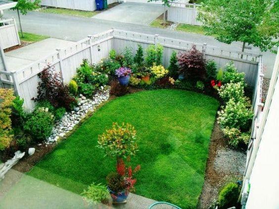 تنسيق حدائق قرطبه Small Garden Landscape Small Yard Landscaping Front Garden Design