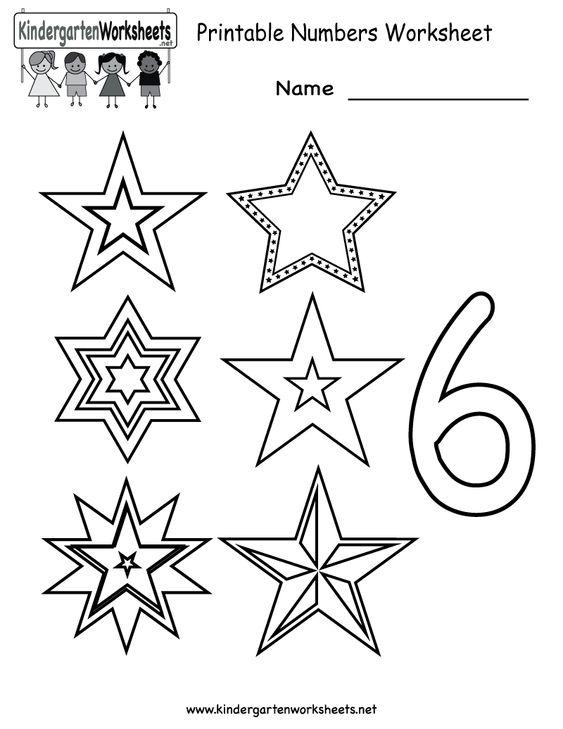 Kindergarten Printable Numbers Worksheet Printables – Worksheets on Numbers for Kindergarten