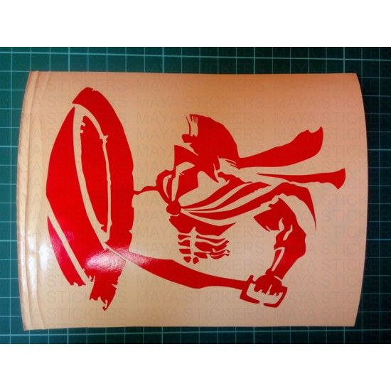 Spartan Warrior Sticker For Cars Bikes Laptop In Reflective Red - Vinyl stickers for bikes