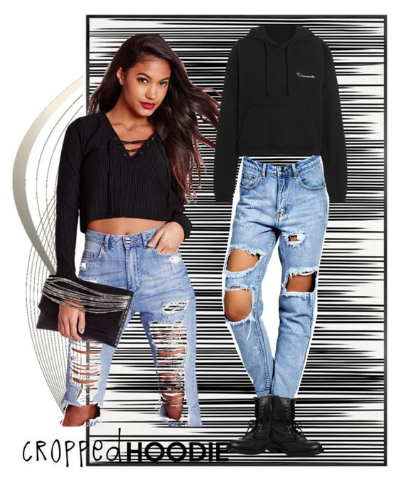 """""""Cute Trend: Cropped Hoodies"""" by daniela-nicol ❤ liked on Polyvore featuring Art Addiction, Missguided, Boohoo, Vetements and Steve Madden"""