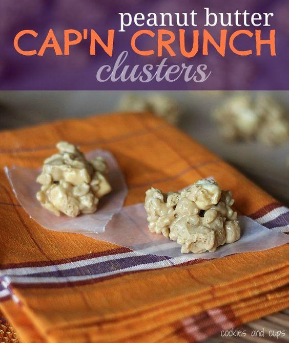 Peanut Butter Cap'n Crunch Clusters | Recipe | Crunches, Peanut ...