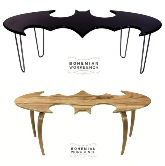 Batman Coffee Table: Don't Be a Joker, Use a Coaster These beautiful Batman coffee tables were made by artist Charles Lushear from Bohemian Workbench. Sadly, you can't buy one since they're not for sale. Well, I'm sure that Bruce Wayne could manage to buy off DC Comics' lawyers, but sadly none of us are him.