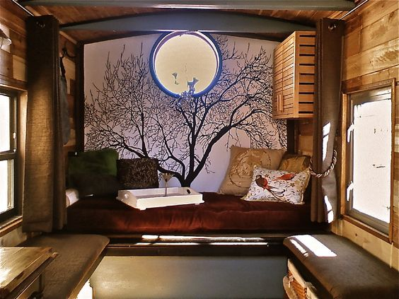 Tiny House interior designed and built by glenn grassi featured in