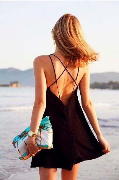 Black summer dress: