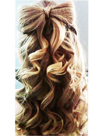 hair bows in curly hair - photo #16
