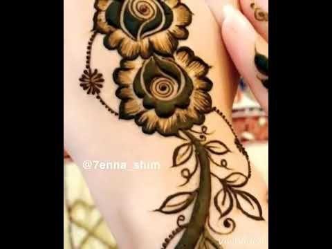 الفن والابداع في نقش الحناء Youtube Henna Flower Tattoo Tattoos