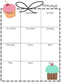 Birthday list for planning binder