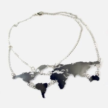World Links Necklace Gray