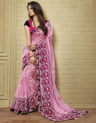 Pink Color Soft Super Net Kitty Party Sarees : Minal Collection  YF-41586