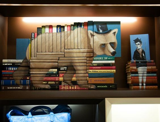 Using books as a canvas - unique!