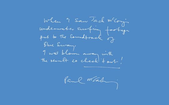 Paul McCartney on Jack McCoy's film 'A Deeper Shade of Blue'