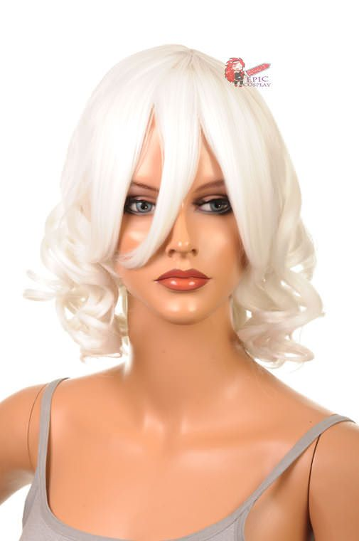 """Diana - 15"""" White Curly Short Cosplay Wig-15 inchEpicCosplay"""