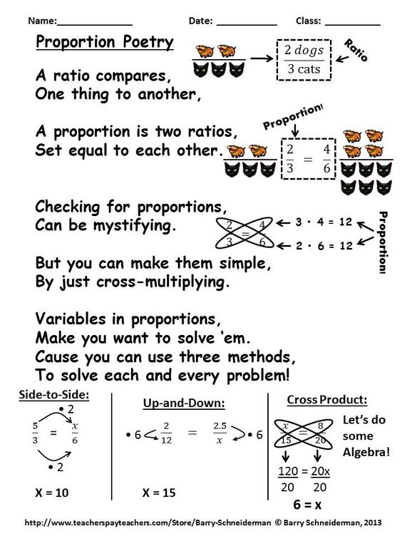 One Of The Many Poems Activities Guided Notes Assessments And Worksheets In Ratios Ratio And Proportion Worksheet Sixth Grade Math Ratios And Proportions