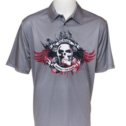 Sub-dyed Skull Golf Shirt from Golfcult.com