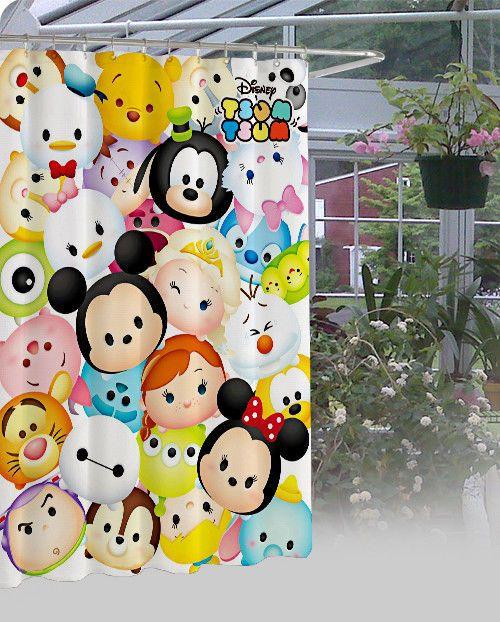 New Disney Tsum Tsum High Quality Shower Curtain 60 X 72