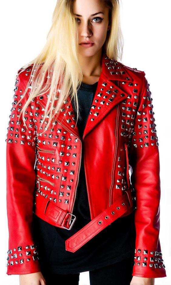 Kill Star Studded Leather Jacket | Jacket | Pinterest | Coats Red