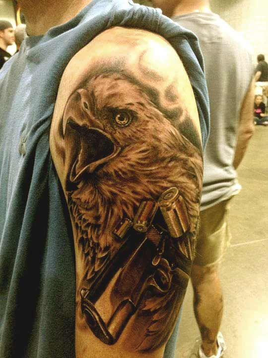 50 Amazing Perfectly Place Eagle Tattoos Designs With Meaning Eagle Tattoos Tattoo Designs Eagle Tattoo