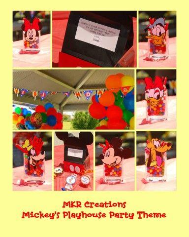Ideas de la web para fiesta de Mickey (Club House)