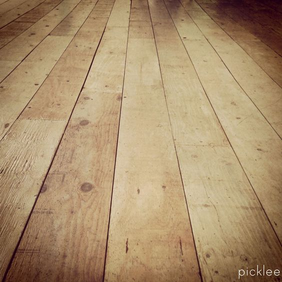 Farmhouse wide plank floor tutorial done using plywood for Solid wood flooring near me