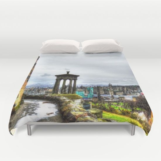 Buy ultra soft microfiber Duvet Covers featuring Edinburgh by haroulita!!. Hand sewn and meticulously crafted, these lightweight Duvet Cover vividly feature your favorite designs with a soft white reverse side.