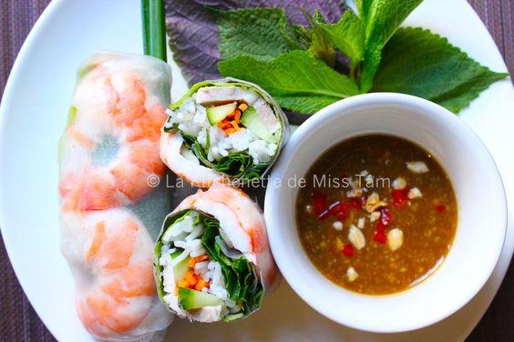 Vietnam : Rouleaux de printemps (ou d'été) / Gỏi cuốn | La kitchenette de Miss TâmLa kitchenette de Miss Tâm