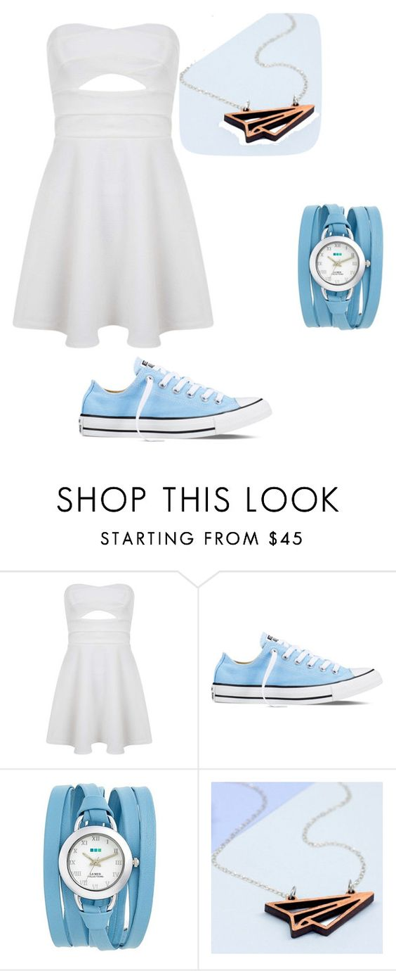 """two"" by elliestorts ❤ liked on Polyvore featuring Miss Selfridge, Converse and La Mer"