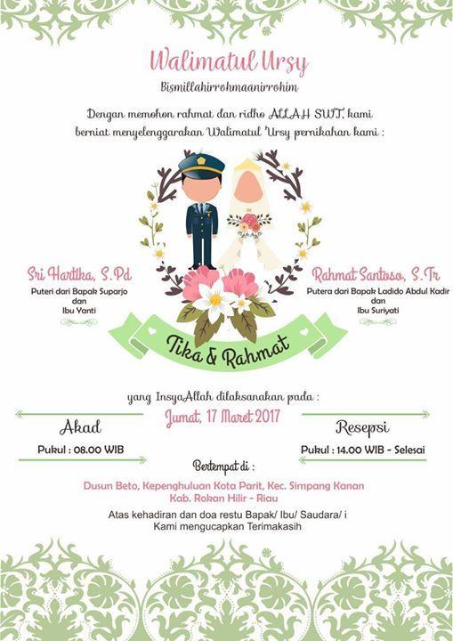 Walimatul Ursy Tika Rahmat Digital Invitations Wedding Digital Wedding Invitations Wedding Invitation Card Design