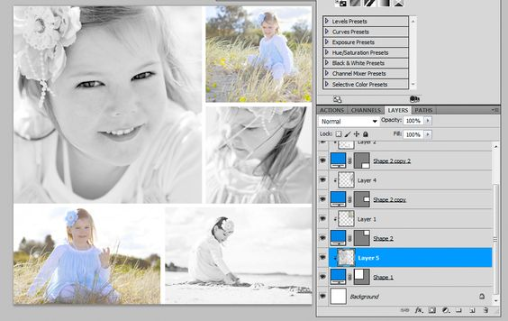 How to make a storyboard & collage in Photoshop