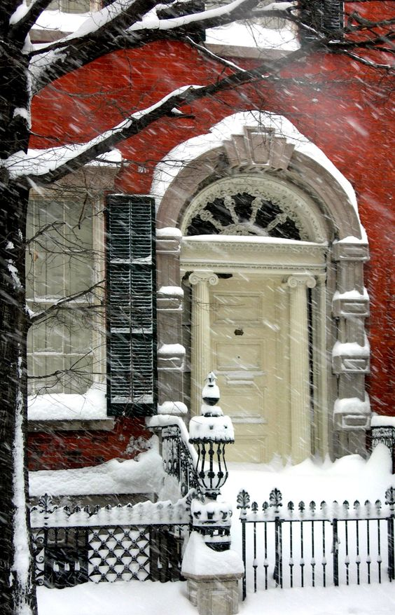 The Merchant's House Museum in New York City blizzard - February 12, 2006:
