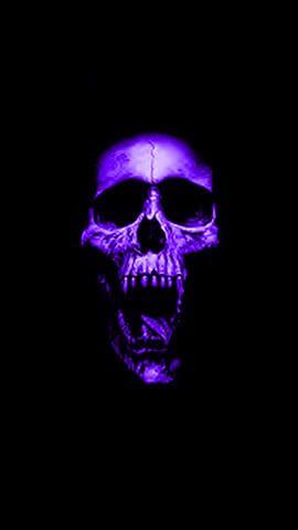 Purple Skull Black And Purple Wallpaper Purple Wallpaper Hd Skull Wallpaper