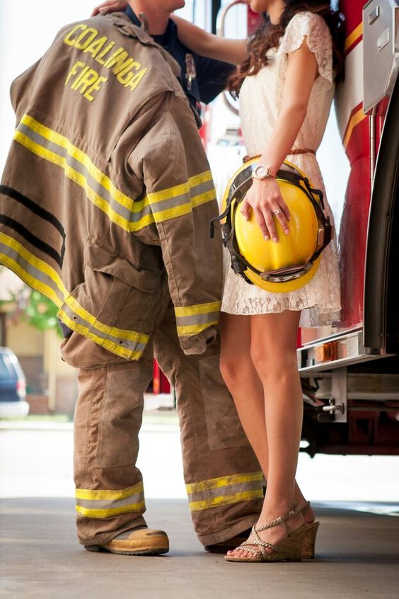Firefighter engagement photography :)
