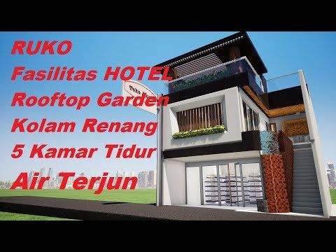 House Plan 8x14 Meters Youtube Kolam Renang Rumah Rumah Minimalis