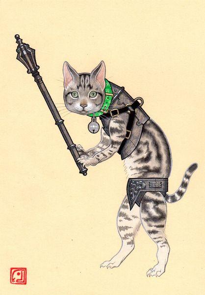 空想/幻想画「歩兵(猫)」[久保俊太郎] | ART-Meter