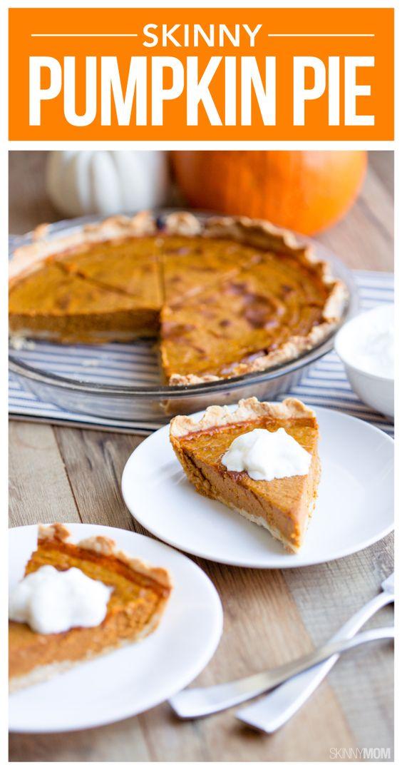 Recipe: Skinny Pumpkin Pie   Pumpkins, Pie recipes and Recipe