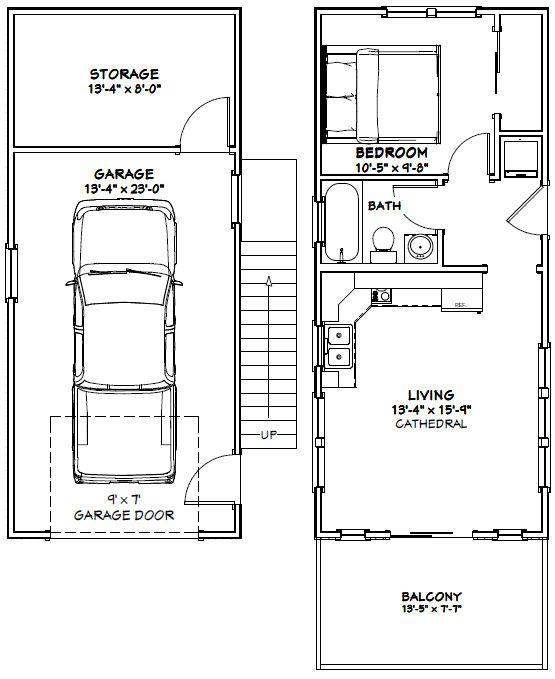 14x32 Tiny House Model 6H PDF FloorPlan 567 sq ft