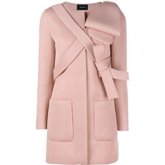 Simone Rocha Neoprene Bow Coat ($1340) ❤ liked on Polyvore