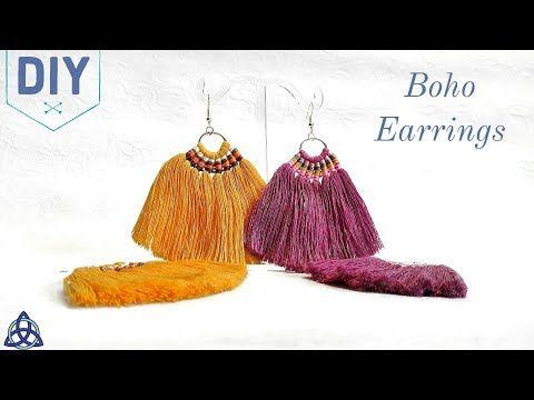 Charm Double Couleur Boho Statement Long Tassel Frange Dangle Drop Crochet Boucles D/'oreilles