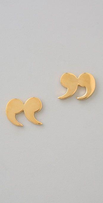 Quotation Stud Earrings by Tom Binn