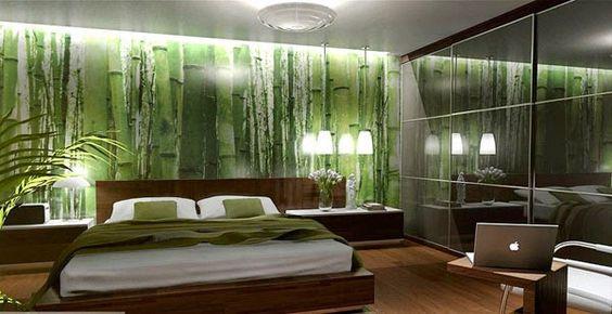Schlafzimmer Mit Tapete Gestalten : schlafzimmer wald tapete Schlafzimmer Pinterest