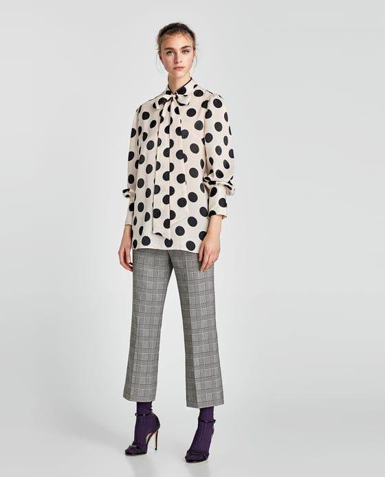 Blusa Lazo Lunares De Zara Zara Fashion 2017 Women Polka Dot Blouse Polka Dots Outfit