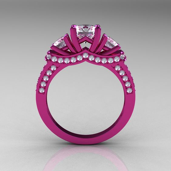 pink engagement rings - Google Search