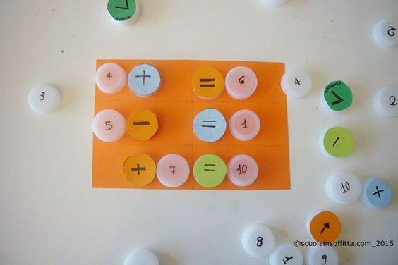 Scuola in soffitta – Blog per mamme Gioco con i tappi: simmetria e aritmetica