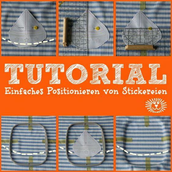 Positionieren von Stickdateien ... exact positioning of embroideries