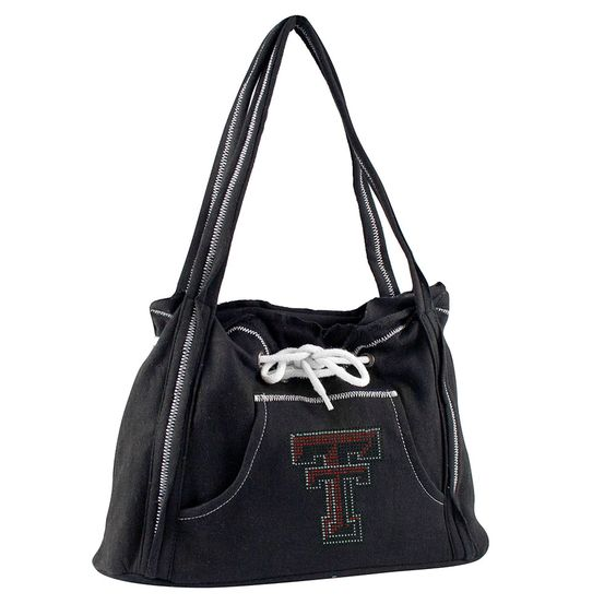 Texas Tech Red Raiders NCAA Sport Noir Hoodie Purse