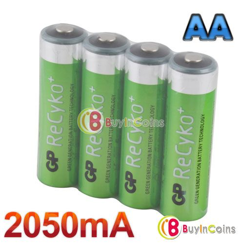 4 Pcs Hi Power Gp Recyko 2050mah 1 2v Ni Mh Nimh Rechargeable Aa Battery 1 Nimh Power Battery