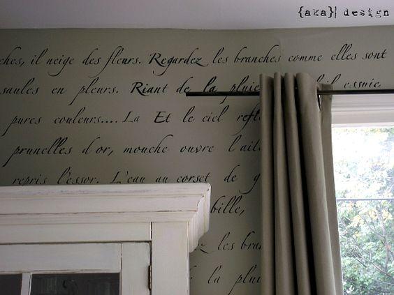 "Royal Design Studio's ""Springtime in Paris"" stencil: Wall Stencil, Decorating Ideas, Diy Wall, Stenciled Wall, Stencilled Wall, Stencil Wall"