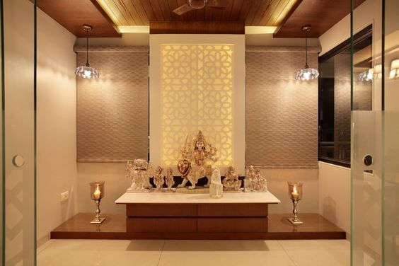 3 Bhk Flat Interiors The Oak Woods With Images Pooja Room