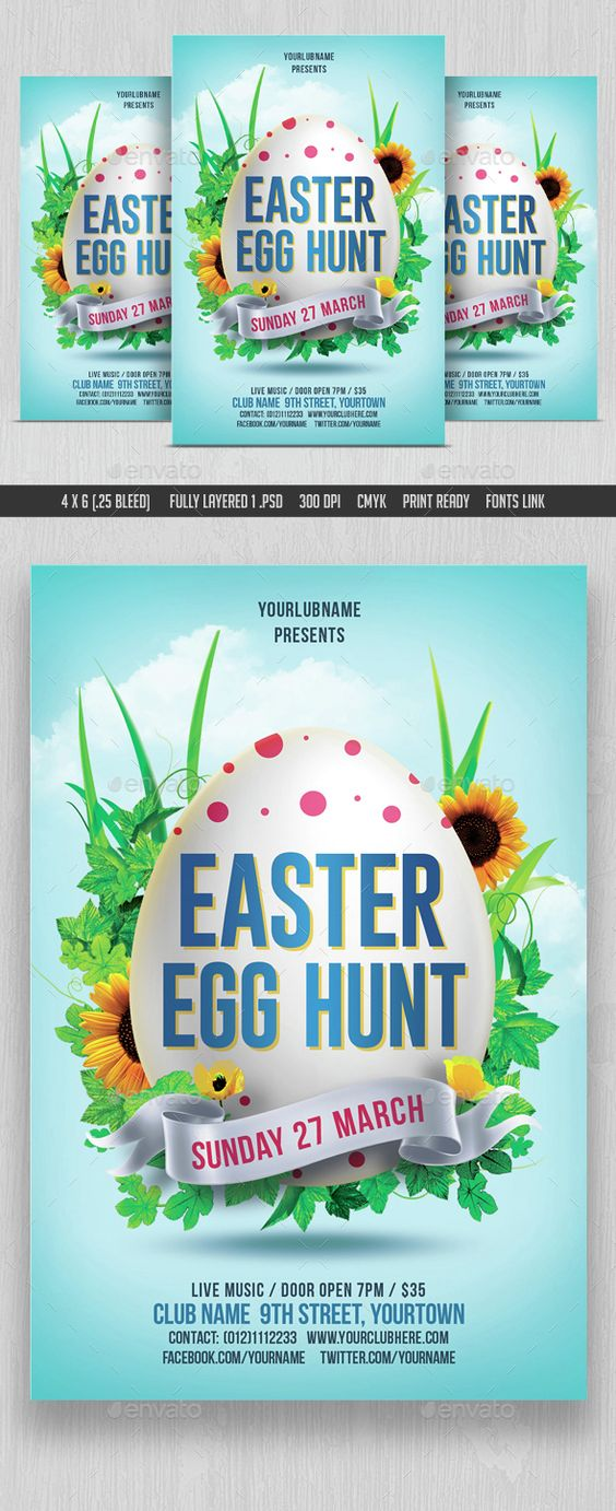 Red Easter Sale Flyer Design Template Click to customize - bbq flyer