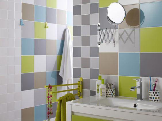 Carrelage salle de bain terne - Carrelage colore salle de bain ...