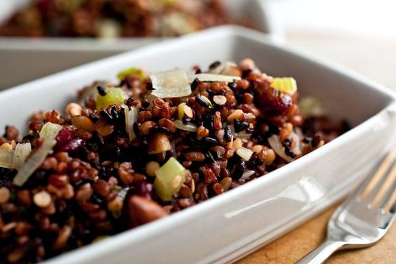 Red and Black Rice Stuffing With Red Lentils — Recipes for Health - NYTimes.com